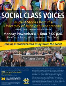 Social Class Voices Flyer